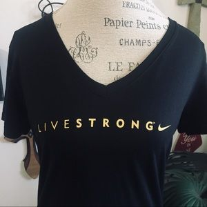 Nike dri fit Livestrong v-neck Tee